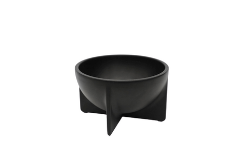 Matte Black Small Standing Bowl
