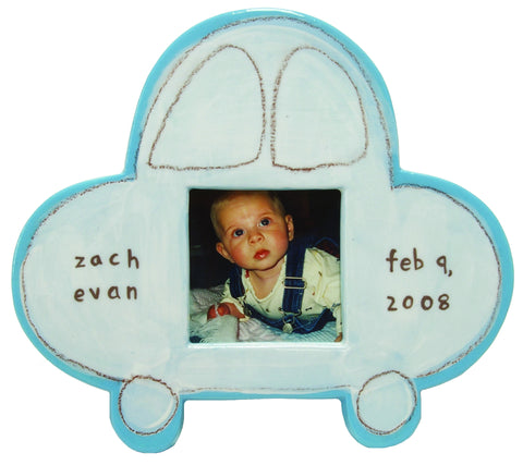 Car Character Picture Frame Blue