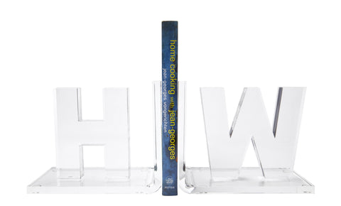 Personalized Acrylic Bookends