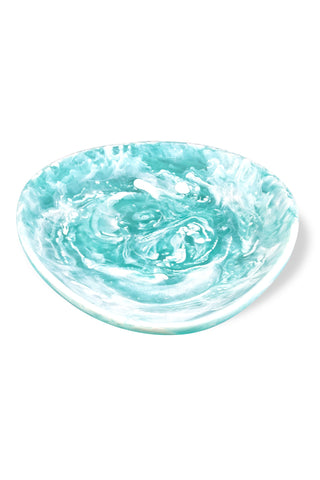 Aqua Swirl Resin Egg Bowl Large