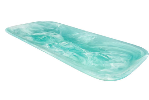 Aqua Swirl Resin Classical Rectangular Platter