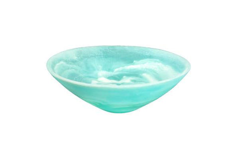 Aqua Swirl Resin Everyday Small Bowl