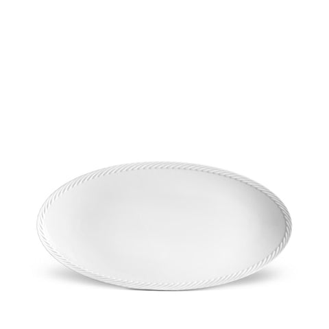 Corde White Oval Platter Large
