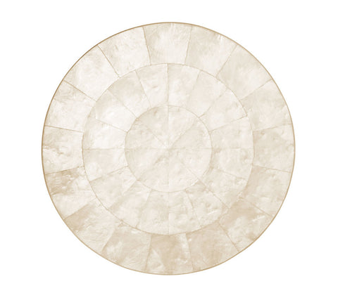 Round Capiz Placemat in Natural, Set of 4