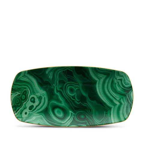 Malachite Rectangular Tray Medium
