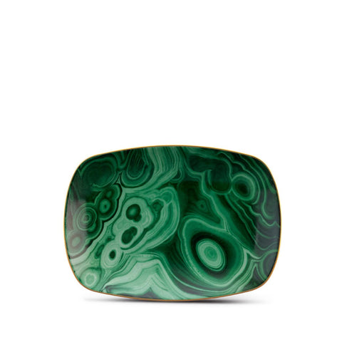 Malachite Rectangular Tray Small