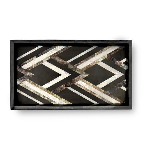 Deco Noir Rectangular Tray Small