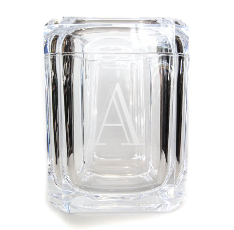 Acrylic Swivel Ice Bucket with Initial