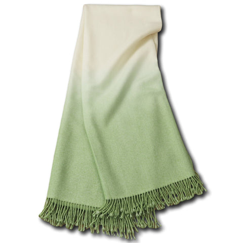 Dip-Dyed Throw Willow Green