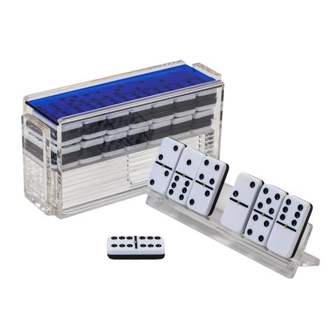 Luxe Domino Set w/ Racks Blue