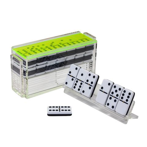 Luxe Domino Set w/ Racks Neon Green