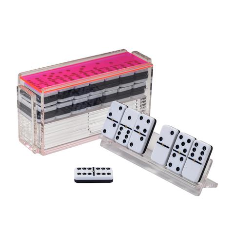 Luxe Domino Set w/ Racks Neon Pink
