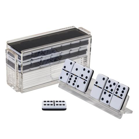 Luxe Domino Set w/ Racks Smoke