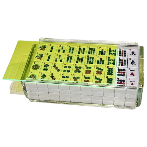 Luxe Mahjong Set Neon Green
