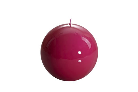 Fuchsia Ball Candle Medium