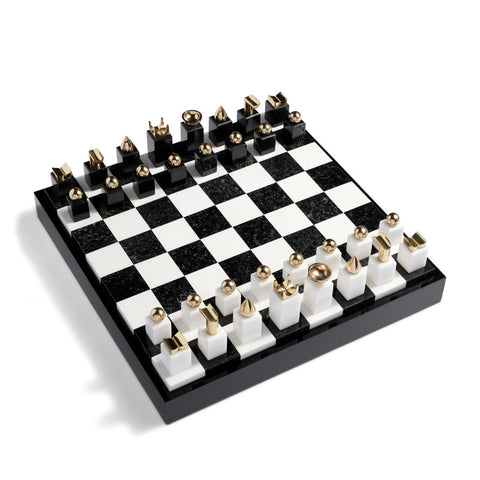 Chess Set - Black + Gold
