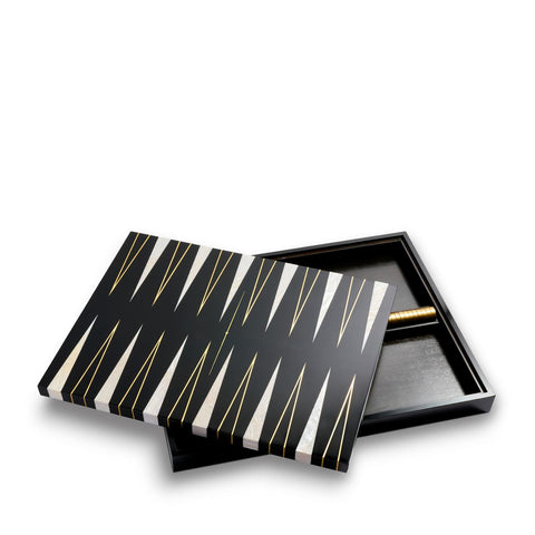 Backgammon Set - Black + Gold