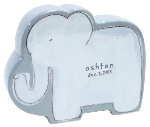 Elephant Character Bank Grey