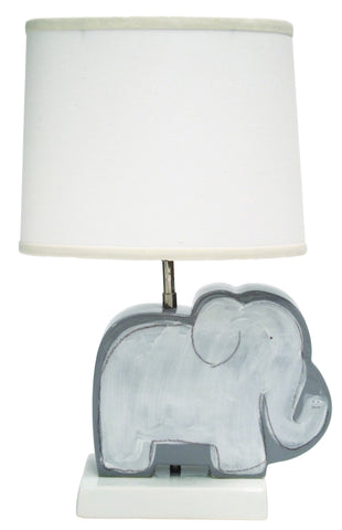 Elephant Character Figure Lamp Grey
