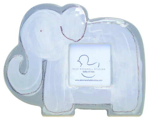 Elephant Character Picture Frame Grey