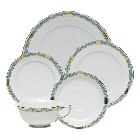 Chinese Bouquet Garland Green Dinnerware