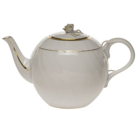 Golden Edge Tea Pot w/ Rose
