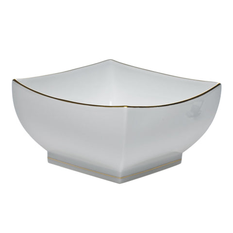 Golden Edge Large Square Bowl