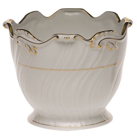Golden Edge Ribbed Cachepot