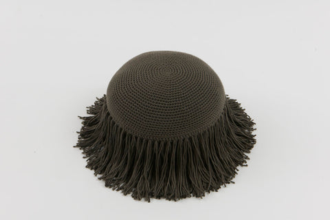 Joni Fringe Pillow Grey