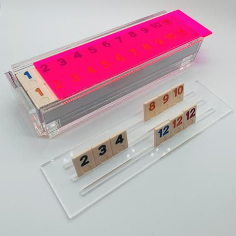 Luxe Rummy Tile Game Neon Pink