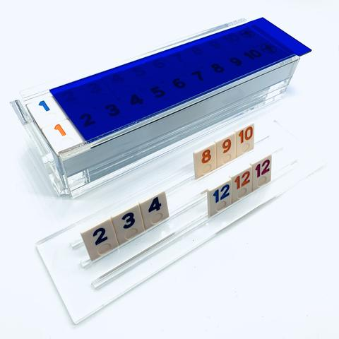 Luxe Rummy Tile Game Blue