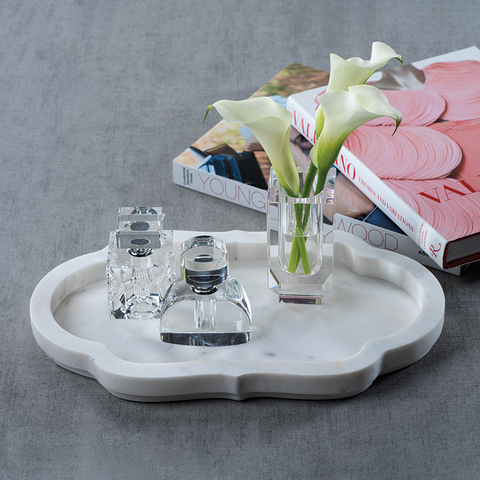 Pietre White Marble Tray Small