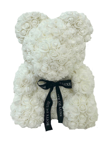 Rose Teddy Bear White