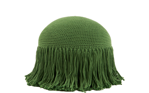 Joni Fringe Pillow Moss Green