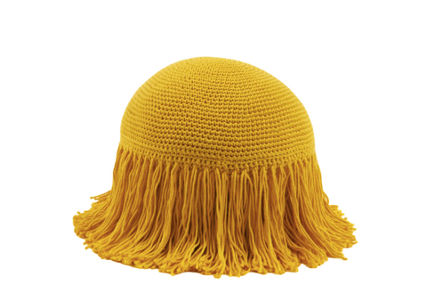 Joni Fringe Pillow Yellow