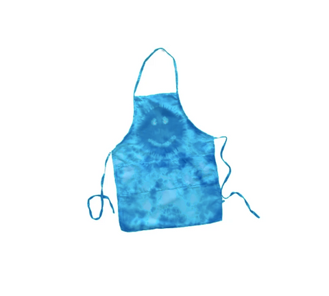 Tie Dye Happy Face Mini Apron