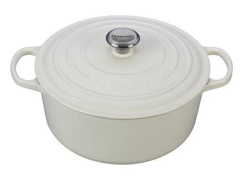 White Signature Round Dutch Oven