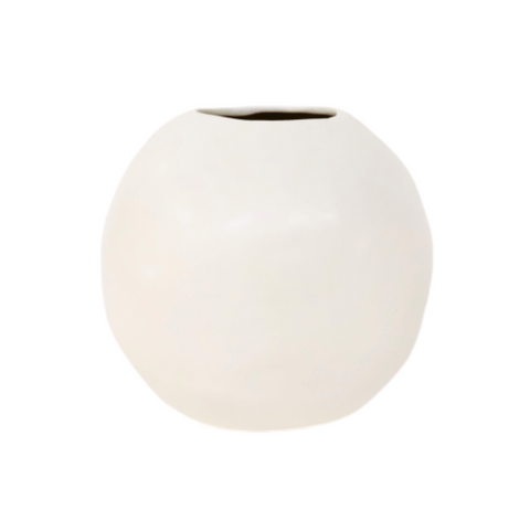 Large Sphere Vase Matte White