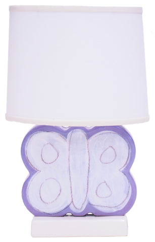 Butterfly Character Figure Lamp Lavender
