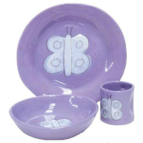 Butterfly Character Dish Set Lavender