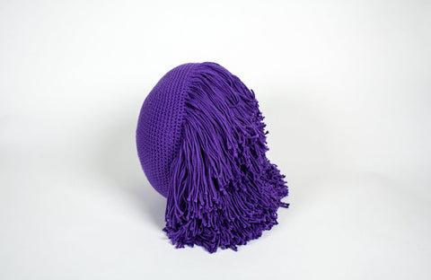 Joni Fringe Pillow Purple