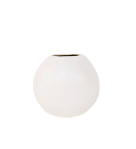 Medium Sphere Vase Matte White