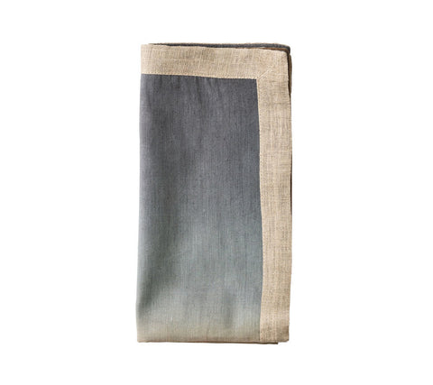 Dip Dye Napkin in Beige, Taupe & Gray, Set of 4