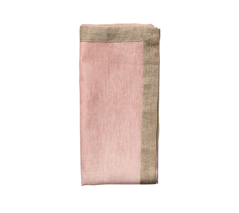 Dip Dye Napkin in Blush & Gold, Set of 4