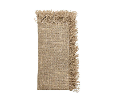 Fringe Napkin in Natural & Silver, Set of 4