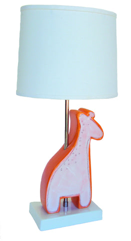 Giraffe Character Figure Lamp Orange