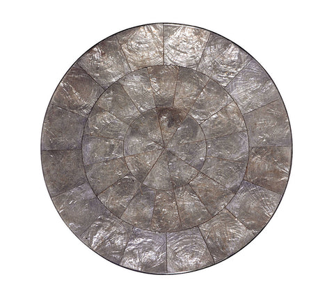 Round Capiz Placemat in Gray, Set of 4