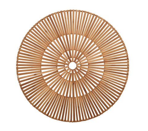Spoke Placemat in Brown, Set of 4