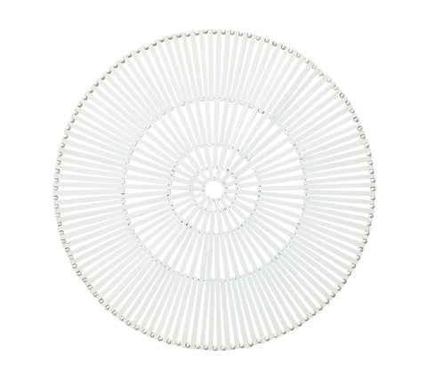 Spoke Placemat in White, Set of 4