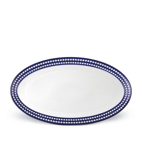 Perlée Blue Oval Platter Large